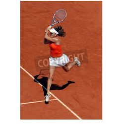 Plakat PARIS - 1 czerwca: Agnieszka Radwańska Polski zaprasza na French Open, Roland Garros w dniu 1 czerwca 2009 roku w