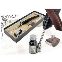 Zestaw do kaligrafii La Kaligrafica ( pióro gęsie ze stalówką + 3 stalówki + atrament z podstawką + bibularz )