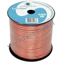 Przewód głośnikowy kabel CCA 2x0,5 mm 100m