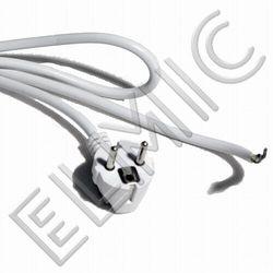 Przewód elektryczny sieciowy z wtyczką i wolnym końcem - 5 mb - WS NF 5 / 1.0 / K H05VV-F 3G1.0 - ELMIC czarny