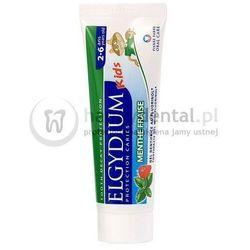 ELGYDIUM Kids 50ml - miętowo-truskawkowa pasta do zębów mlecznych z fluorem dla dzieci w wieku 2-6 lat (zielona) // (PROMOCJA!!! DATA WAŻNOŚCI 09.2016)