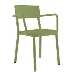 Designerskie krzesło ogrodowe z podłokietnikami do restauracji Resol Lisboa oliwkowe