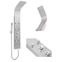 PROMOCJA! Panel prysznicowy ze stali nierdzewnej, z baterią termostatyczną i hydromasażem MAURITIUS INVENA EXE AK-60-001