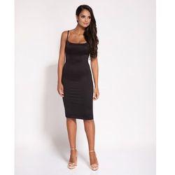 dc1bbf1091 Dopasowana sukienka Alia na cienkich ramiączkach - czarna Darmowa dostawa