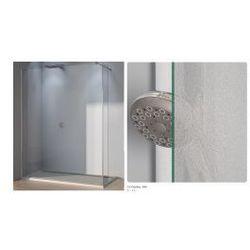 Ścianka stała ze ścianką krótką SanSwiss WALK-IN PUR szerokość 90 do 160 cm, lewa, połysk, szkło Durlux 200 DUOPGSM15022