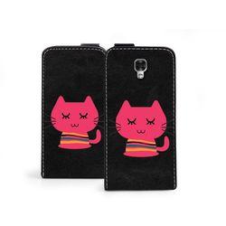 Flip Fantastic - LG X Screen - etui na telefon Flip Fantastic - różowy kot