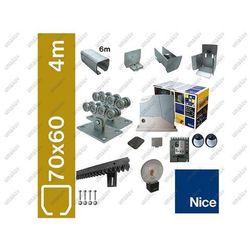 Zestaw do bram przesuwnych NICE 70x60mm, Zn, ROBUS