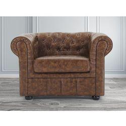 Fotel braz Old Style skóra ekologiczna CHESTERFIELD