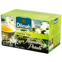 DILMAH 20x1,5g Zielona herbata z kwiatami jaśminu