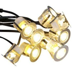Komo zestaw opraw do wbudowania LED 10 sztuk IP65 ciepło biała