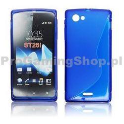 Silicone Case for Sony Xperia J-ST26 | Niebieski