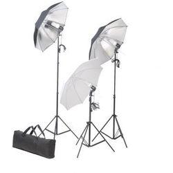 Zestaw studio: oświetlenie, statywy i parasole Zapisz się do naszego Newslettera i odbierz voucher 20 PLN na zakupy w VidaXL!