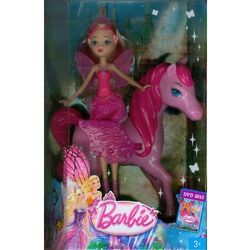 Barbie Mini Wróżka i Pegazy różowa