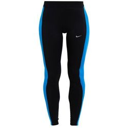 Nike Performance ESSENTIAL Legginsy black/light photo blue/reflective silver
