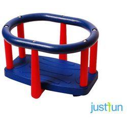 Huśtawka kubełkowa LUX - niebiesko-czerwony