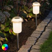 Lampa solarna wbijana w ziemię Assisi z RGB LED   Lampa