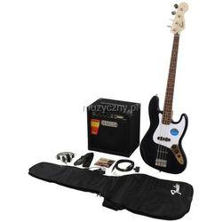 Fender Squier Affinity Jazz Bass black zestaw wzmacniacz Rumble 15 Płacąc przelewem przesyłka gratis!