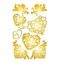 Naklejki złote serca