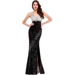 Cekinowa suknia na sylwestra, suknia na karnawał, sukienka na studniówkę | suknie wieczorowe