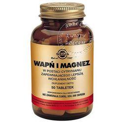 SOLGAR Wapń i Magnez w postaci cytrynianu 100 Kapsułek