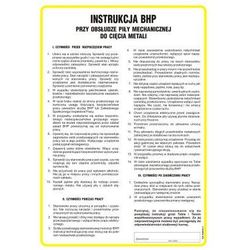 Instrukcja BHP przy obsłudze piły mechanicznej do cięcia metali
