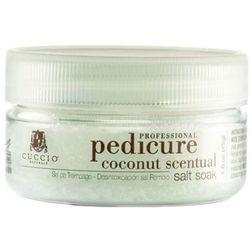 Cuccio COCONUT SCENTUAL SALT SOAK Zmysłowa, kokosowa sól do moczenia stóp (45 g.)