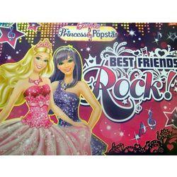 Podkład szkolny obustronny na biurko Barbie Princess and Popstar
