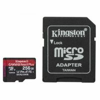 Kingston Karta pamięci microSD 256GB React Plus 285/165MB/s czytnik+adapter