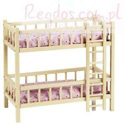 Piętrowe łóżeczko dla lalek z drabinką