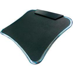 Podkładka pod mysz z hubem 4 x USB 2.0 LogiLink ID0020, antypoślizgowa, czarna