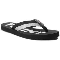 a83141ad6e377 Japonki TOMMY HILFIGER - Glitter Strap Beach Sandal FW0FW02957 Black 990
