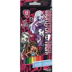 Kredki 12 kolorów. Monster High