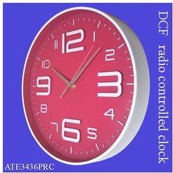 Zegar ALFA sterowany radiowo /różowy