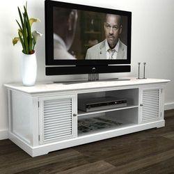 vidaXL Stolik pod TV, drewniany, biały Darmowa wysyłka i zwroty
