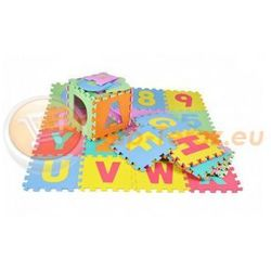 Puzzle piankowe podłogowe dla dzieci 30x30cm 36 elementów kolorowe mata