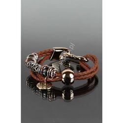 Brązowa bransoletka sznurkowa   bransoletka z zawieszkami