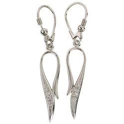 Kolczyki srebrne wiszące z cyrkoniami O401