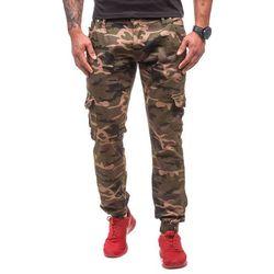 Moro-khaki spodnie joggery bojówki męskie Denley 1111 - KHAKI
