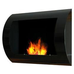 Biokominek dekoracyjny 60x45 cm czarny Convex by EcoFire