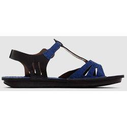Płaskie skórzane sandały Waggbis