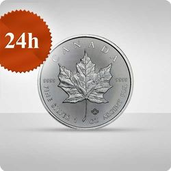 Liść Klonowy 1 uncja srebra - wysyłka 24 h!
