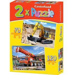 Castorland, Maszyny budowlane, puzzle 2w1, 190 elementów Darmowa dostawa do sklepów SMYK
