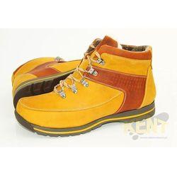 KENT 350 ŻÓŁTE - Zimowe buty skórzane w stylu Timberland