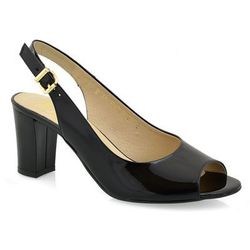 Sandały Anis 4340 czarny lak