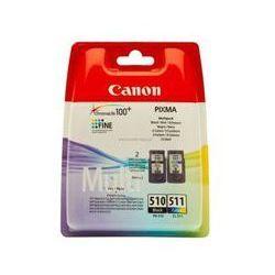 Zestaw dwóch tuszy Canon PG510/CL511 do MP-240/260/270/280/480/490 | CMYK