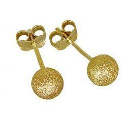Kolczyki złote matowe kuleczki ZO504