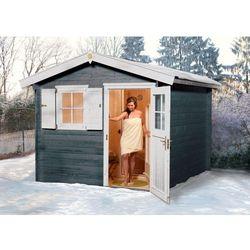 Drewniany domek ogrodowy z sauną