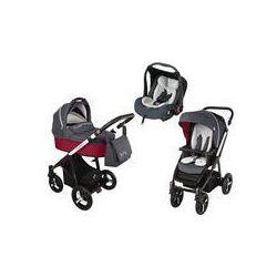 Wózek wielofunkcyjny 3w1 Lupo Husky + Leo Baby Design (czerwony 2016)