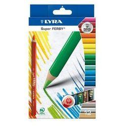 Kredki ołówkowe trójkątne, grube Lyra Super FERBY 12 kolorów