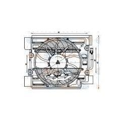 HELLA Wentylator, kondensator klimatyzacji - 8EW351040-101